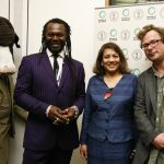 Valerie with Levi Roots and Hugh Fearnley Whittingstall