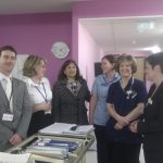 Valerie with Staff from Walsall Manor Hospital
