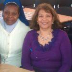 Valerie with Sister Bridget