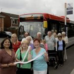 Valerie with Kings Hill residents Doreen Laban and Julie Bosley