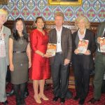 Valerie Vaz MP with author Peter Popham, Zoya Phan of Burma Campaign UK, and relatives of ASSK 3nov 2011