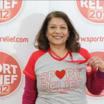 Valerie after running the Sport Relief Mile