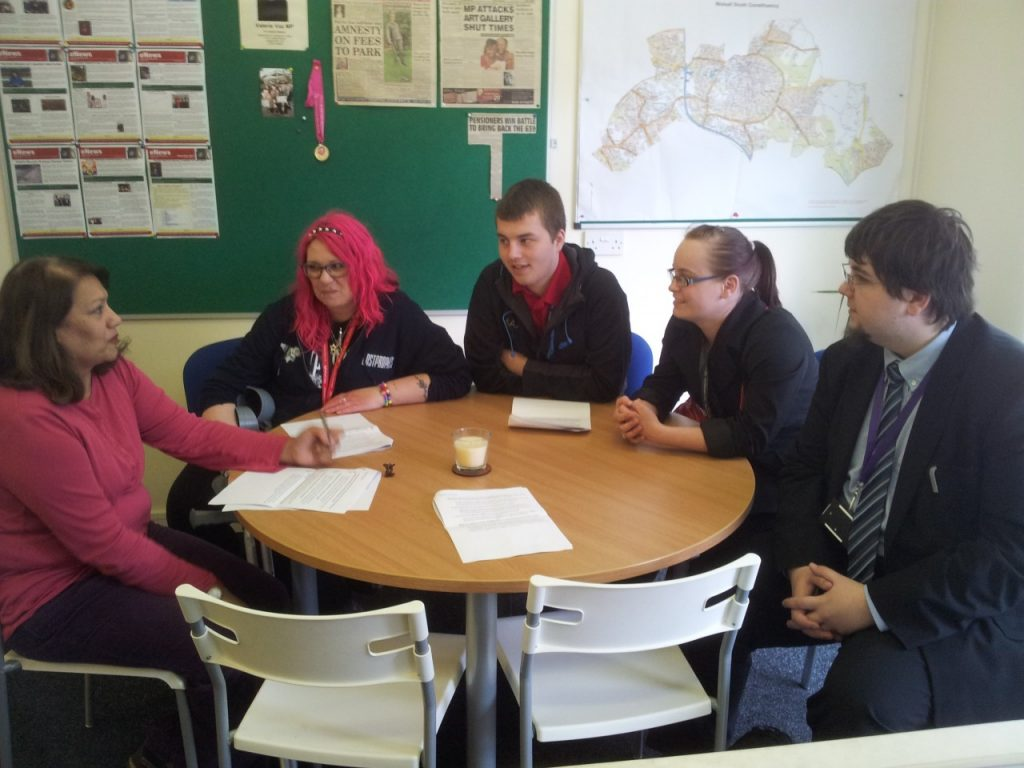Valerie with students from Walsall College