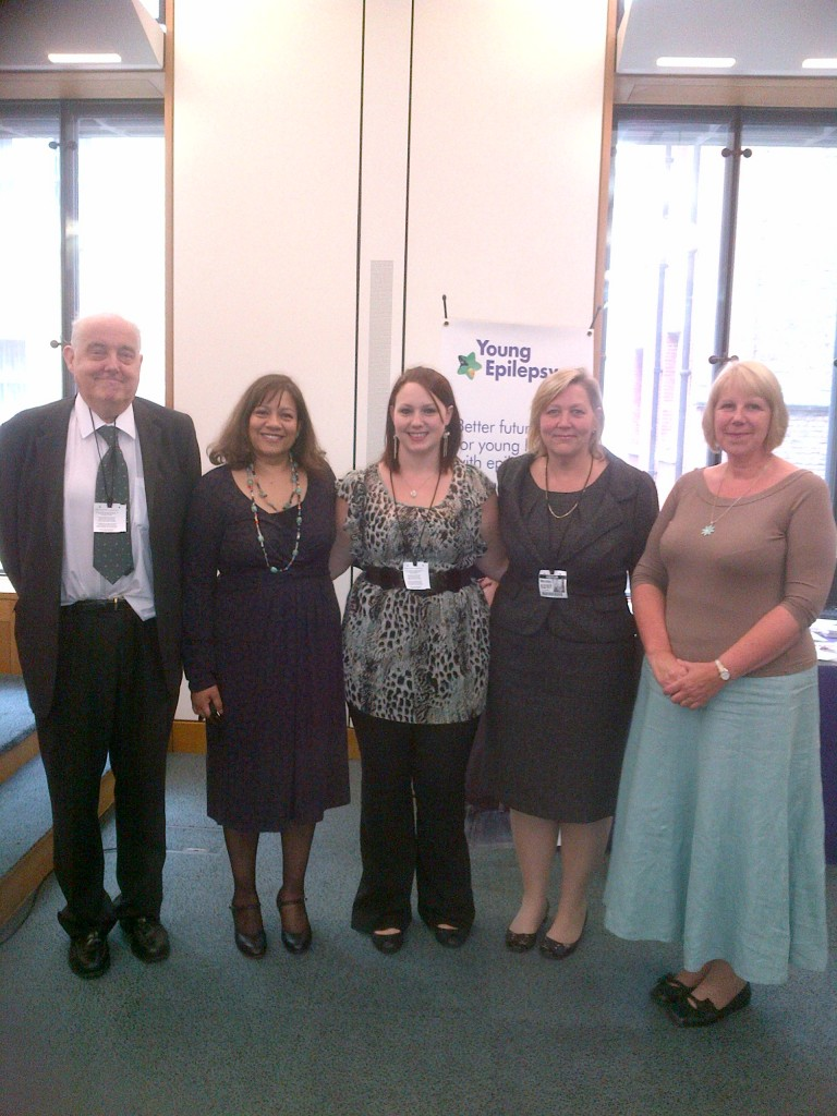 Valerie with Professor Brian Neville, Emma Parrot, Karen Deacon and Sharon Wood
