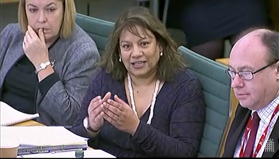 Valerie at the Health Select Committee hearing