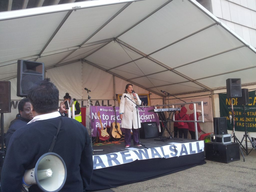 Valerie speaking at the We are Walsall event