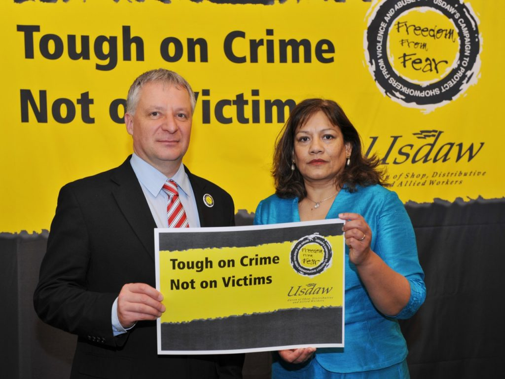 Valerie supports the new Criminal Injury Compensation Scheme.