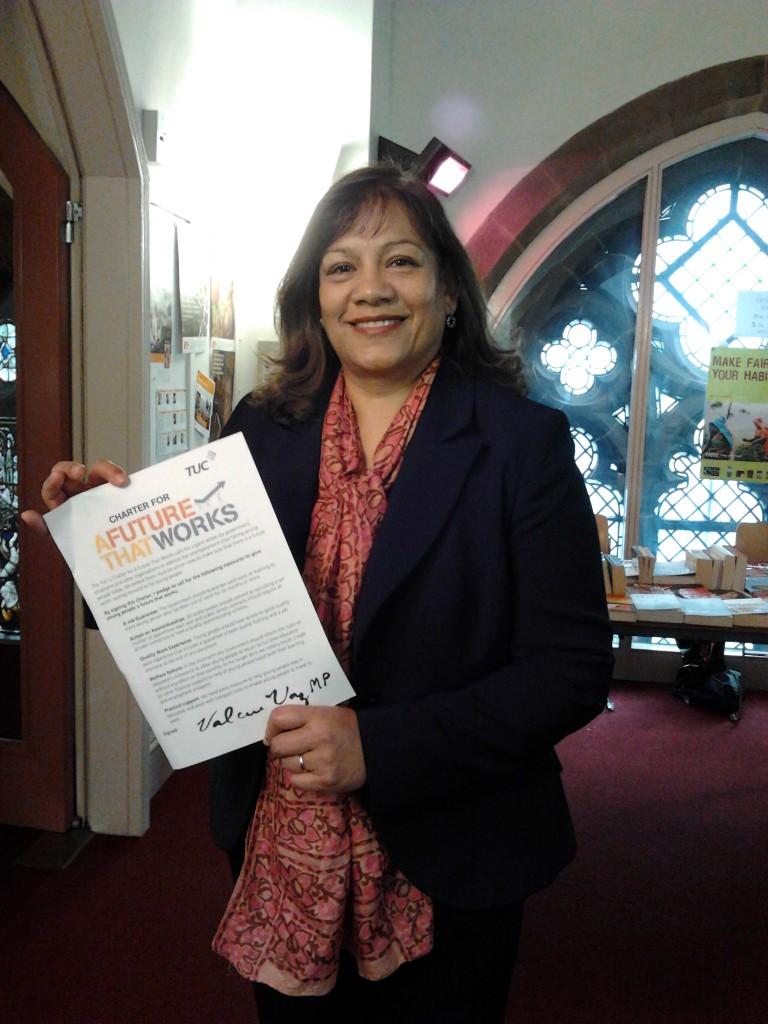 Valerie Vaz signs Charter
