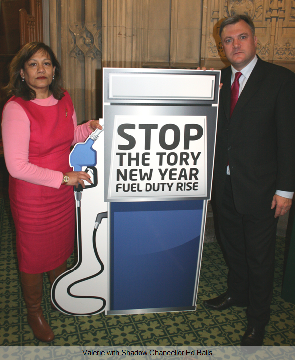 Valerie with Shadow Chancellor Ed Balls.