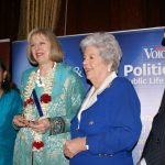RT Hon Teresa May, Rt Hon Betty Boothroyd and CB Patel