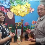 Valerie with Andy Nichols, Headteacher of Moorcroft Wood School