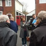 Valerie with residents of Walstead Road
