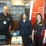 Valerie with James Sopwith & Emma Cromarty from ADI group