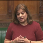 Valerie asks question at Standardised Packaging Statement