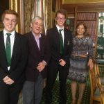 Valerie with Mr Speaker and schoolboys