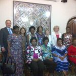 Valerie with Kenyan women politicians