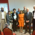 Valerie Vaz MP with residents and Council Officers