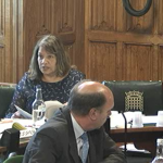 Valerie at Health Select Committee on care.data