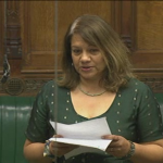 Valerie present Beacon Heights Bus Petition to the House of Commons