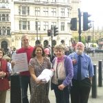 Valerie with Walsall Pensioners parliament background (lightened)