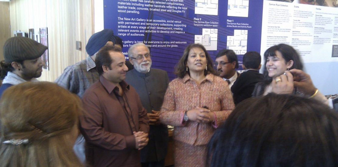 Valerie with Rahat Fateh Ali Khan