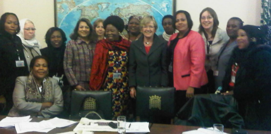 Valerie with MPs at the gender and politics roundtable discussion