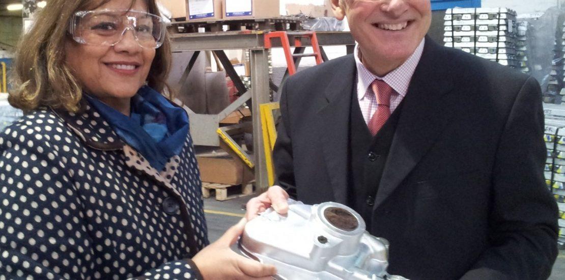 Valerie with Tony Sartorious