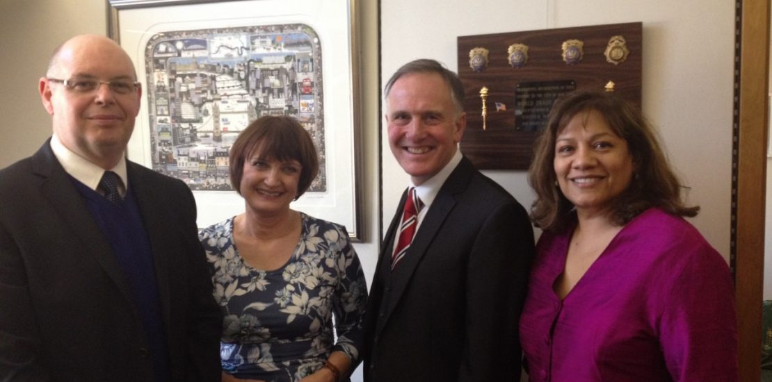 Valerie with Mr John Swift, Mr Tony Sartorious and Rt Hon Tessa Jowell MP