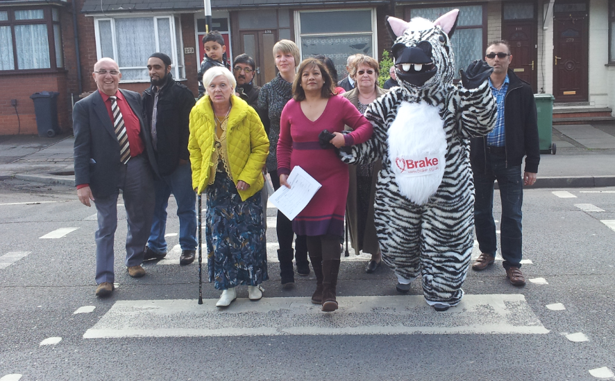 Valerie with Zak the Zebra and Campaigners