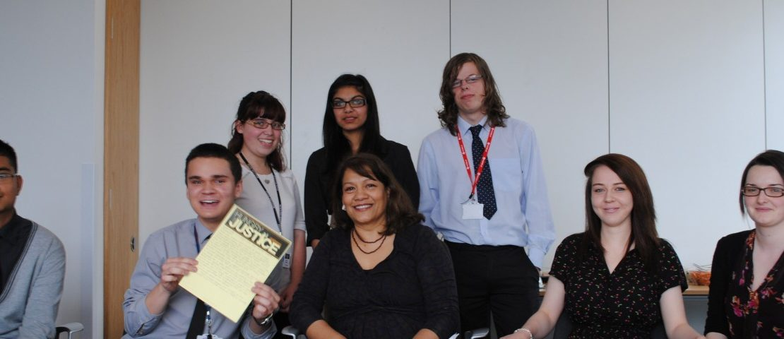 Valerie with students from Alumwell College