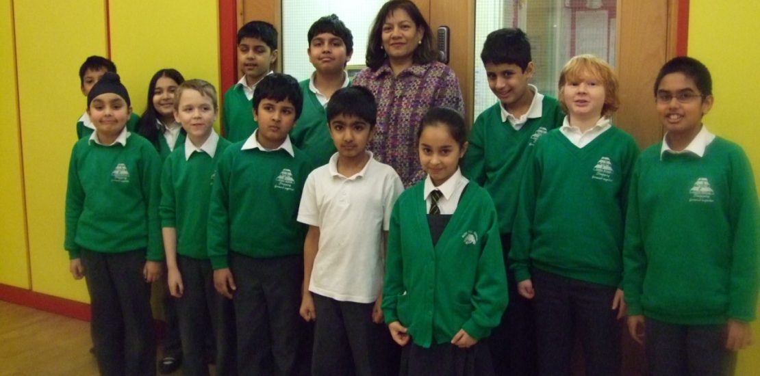 Valerie with Park Hall School Council